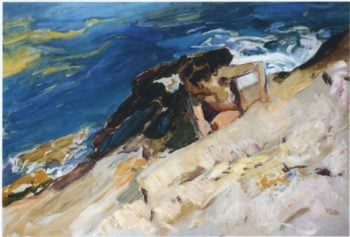 Looking for Crabs among the Rocks Javea | Joaquin Sorolla y Bastida | oil painting
