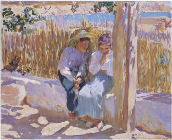Idyll Javea   Joaquin Sorolla y Bastida   oil painting
