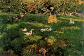 Herding Geese in the Asturias | Joaquin Sorolla y Bastida | oil painting