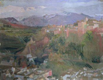 Granada   Joaquin Sorolla y Bastida   oil painting