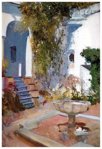 Fountain at the Alcazar in Sevilla | Joaquin Sorolla y Bastida | oil painting
