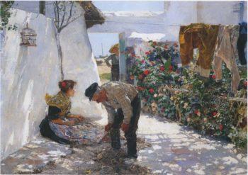 Fishing Nets | Joaquin Sorolla y Bastida | oil painting