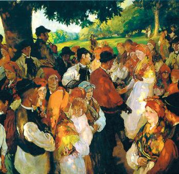 Fiesta Gallega | Joaquin Sorolla y Bastida | oil painting