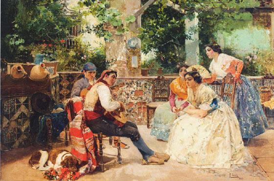 Escena Valenciana | Joaquin Sorolla y Bastida | oil painting