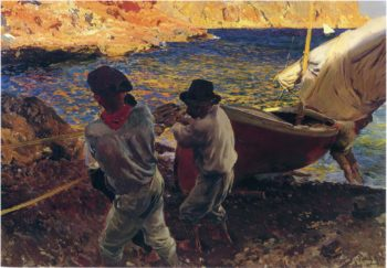 End of the Day Javea | Joaquin Sorolla y Bastida | oil painting