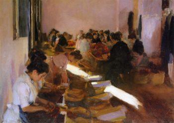 Encajonando Pasas Javea | Joaquin Sorolla y Bastida | oil painting