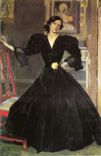 Clotilde in a Black Dress | Joaquin Sorolla y Bastida | oil painting