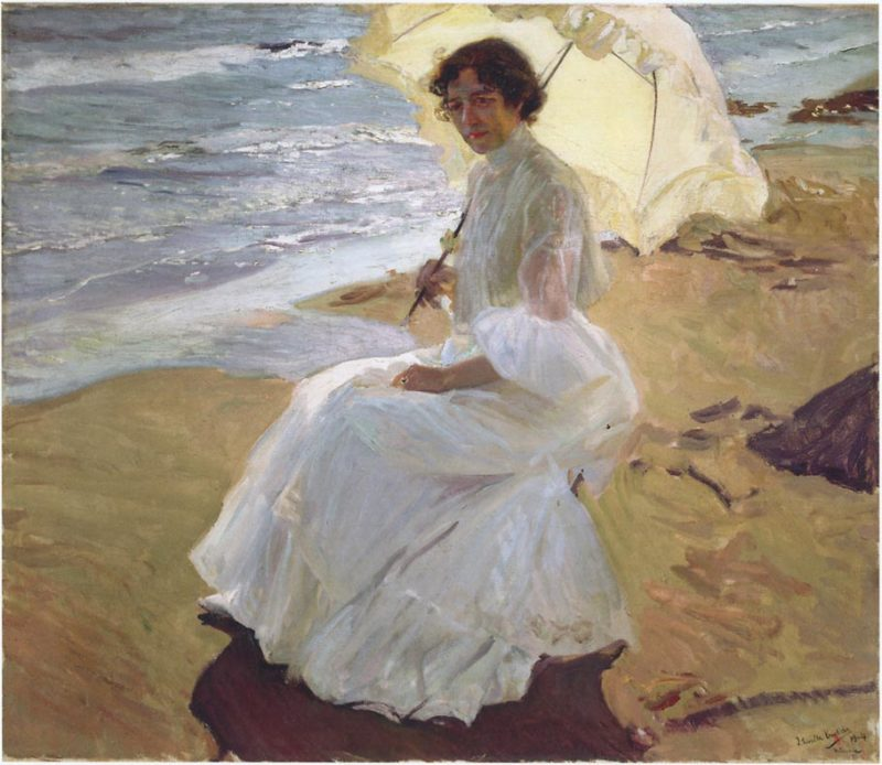 Clothilde at the Beach | Joaquin Sorolla y Bastida | oil painting