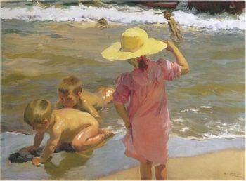 Children on the Seashore | Joaquin Sorolla y Bastida | oil painting