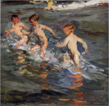 Children at the beach | Joaquin Sorolla y Bastida | oil painting