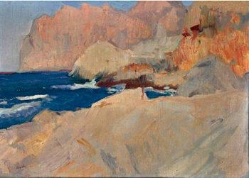 Calle de St Vicente Mallorca | Joaquin Sorolla y Bastida | oil painting