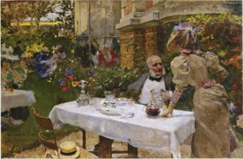 Cafe de Paris | Joaquin Sorolla y Bastida | oil painting