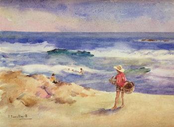 Boy on the Sand | Joaquin Sorolla y Bastida | oil painting