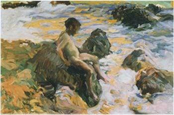 Boy in Sea Foam | Joaquin Sorolla y Bastida | oil painting