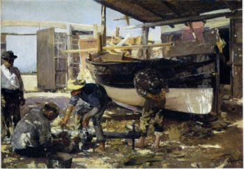 Boat Builders | Joaquin Sorolla y Bastida | oil painting