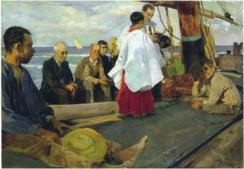 Blessing the Boat | Joaquin Sorolla y Bastida | oil painting