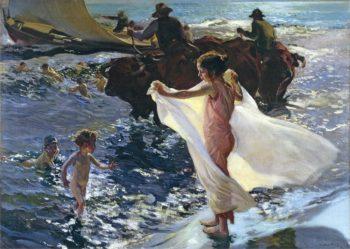 Bathing Time | Joaquin Sorolla y Bastida | oil painting