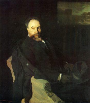 Aureliano de Beruete | Joaquin Sorolla y Bastida | oil painting