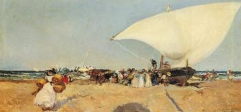 Arrival of the Boats | Joaquin Sorolla y Bastida | oil painting