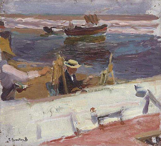Apunte de la Playa | Joaquin Sorolla y Bastida | oil painting