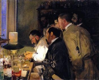 An Investigation Doctor Samarro in His Laboratory | Joaquin Sorolla y Bastida | oil painting