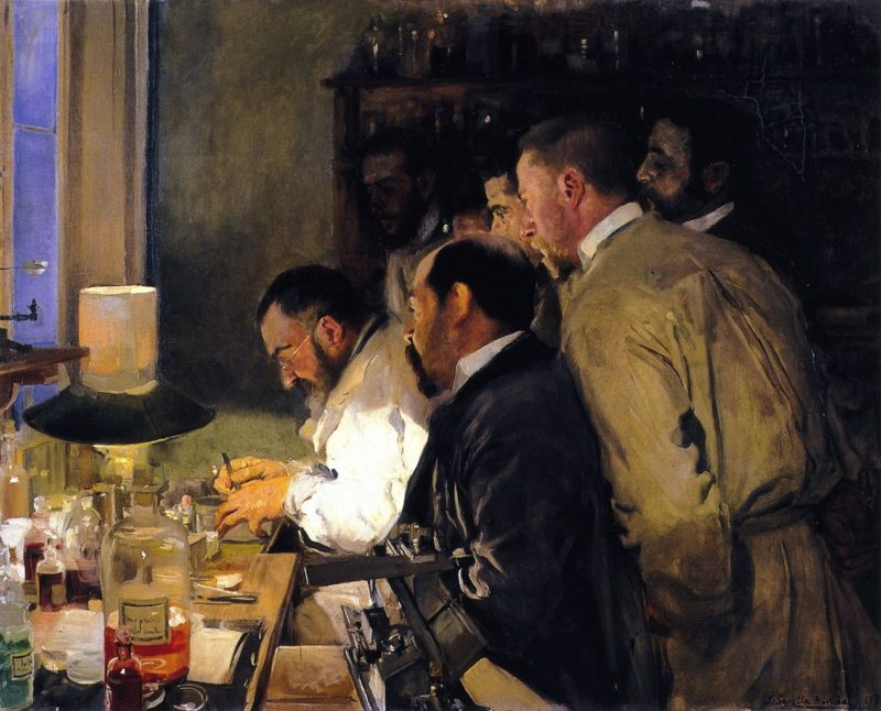 An Investigation Doctor Samarro in His Laboratory | Joaquin Sorolla y Bastida | oil painting