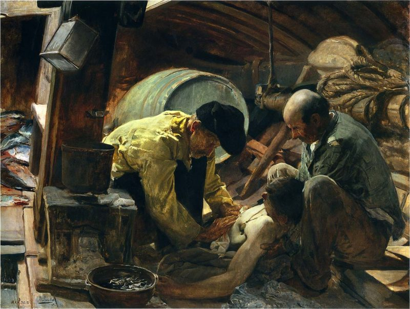 And They Still Say Fish is Expensive | Joaquin Sorolla y Bastida | oil painting