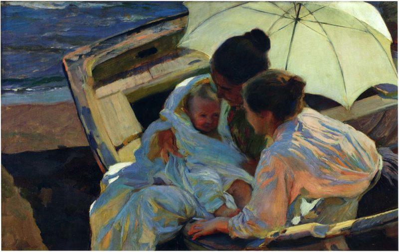 After the Bath | Joaquin Sorolla y Bastida | oil painting