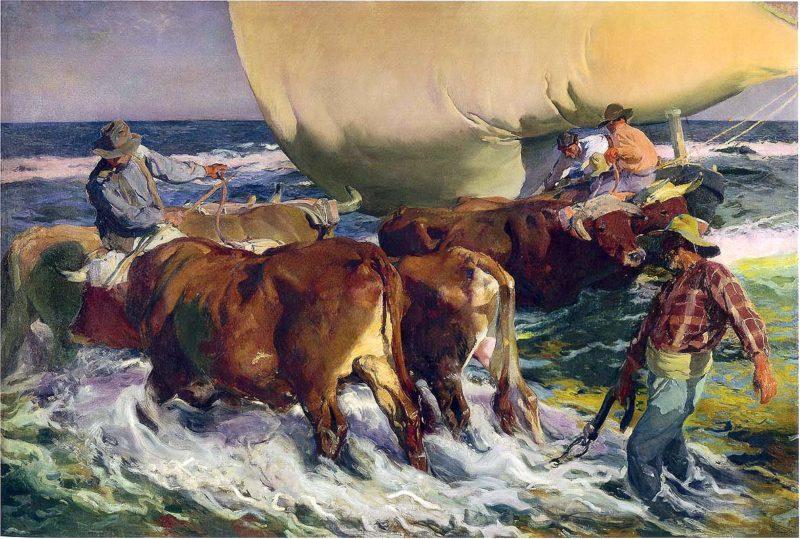 Afternoon sun | Joaquin Sorolla y Bastida | oil painting