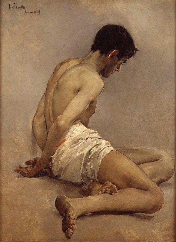 Academic Life Study | Joaquin Sorolla y Bastida | oil painting
