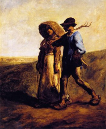 Going to Work | Jean Francois Millet | oil painting