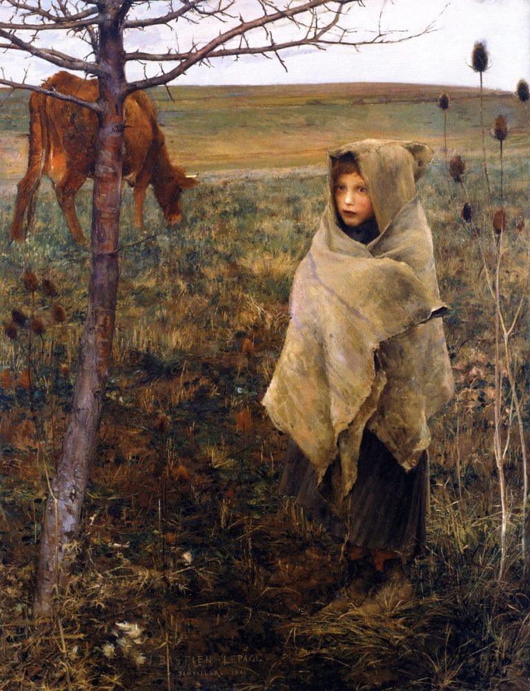 Pauvre Fauvette | Jules Bastien Lepage | oil painting