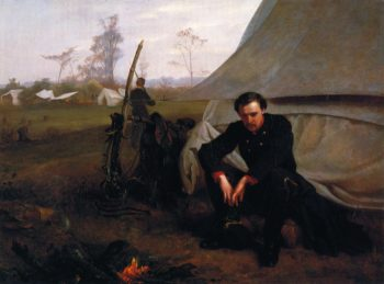 At the Front | George Cochran Lambdin | oil painting