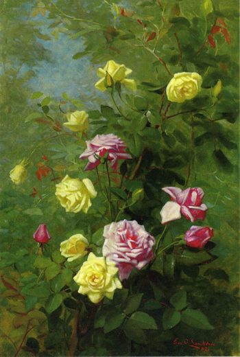 Climbing Roses | George Cochran Lambdin | oil painting