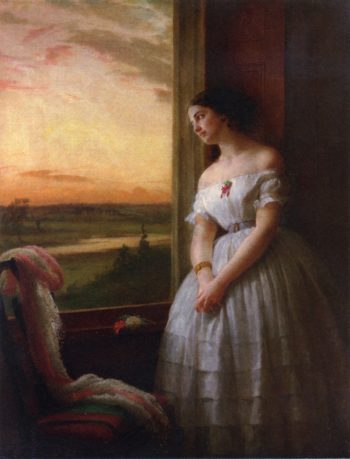 Reverie Sunset Musings | George Cochran Lambdin | oil painting