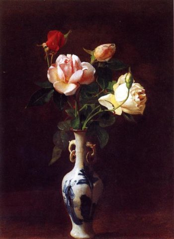 Roses in a Vase | George Cochran Lambdin | oil painting
