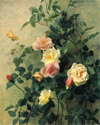 Roses on a Wall | George Cochran Lambdin | oil painting