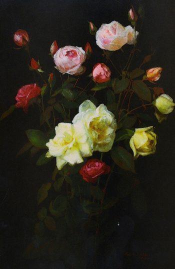 Roses | George Cochran Lambdin | oil painting
