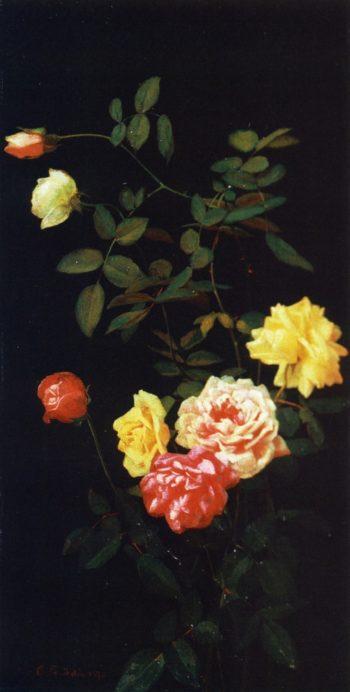 Still Life of Roses | George Cochran Lambdin | oil painting