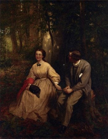 The Courtship | George Cochran Lambdin | oil painting