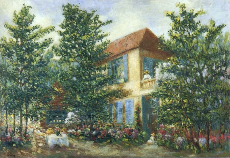 After Midday in the Garden | Henri Lebasque | oil painting