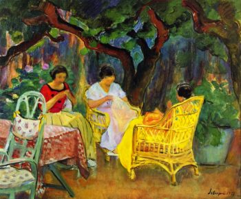 Afternoon in the Garden | Henri Lebasque | oil painting