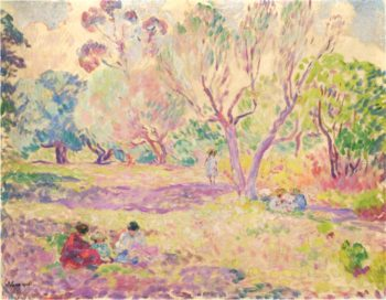 Afternoon in the woods | Henri Lebasque | oil painting