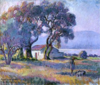 A girl by the lake | Henri Lebasque | oil painting