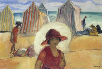 A girl by the sea | Henri Lebasque | oil painting