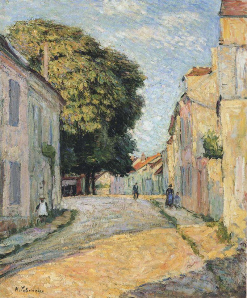 A street in Montevrain   Henri Lebasque   oil painting