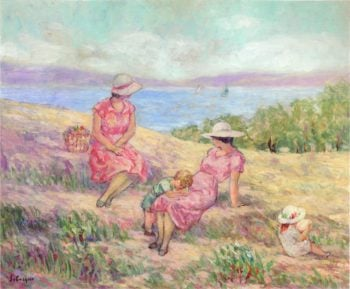 At the Mediterranean Coast | Henri Lebasque | oil painting