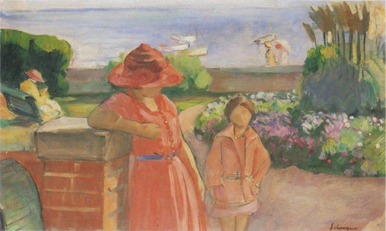 A walk by the sea | Henri Lebasque | oil painting