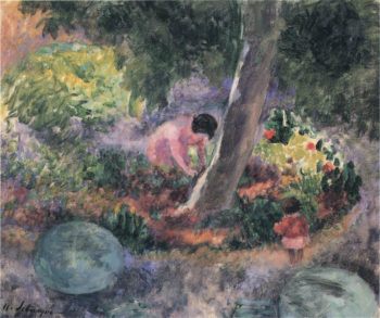 A woman and child in the garden | Henri Lebasque | oil painting