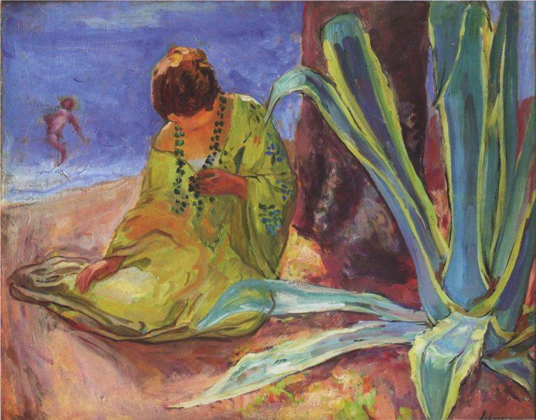 A woman at Saint Maxime | Henri Lebasque | oil painting